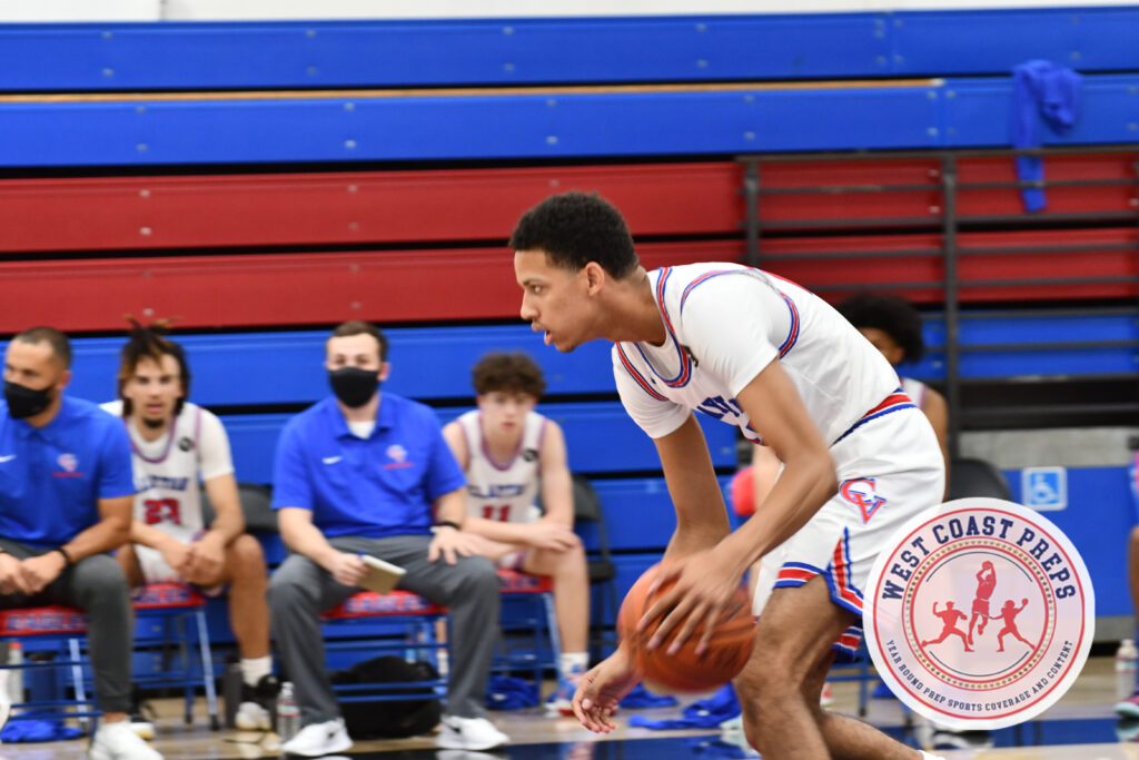 Jeremiah Dargan scored 22 points in Clayton Valley Charter's 60-58 overtime win over Bishop O'Dowd on May 24, 2021. Chris Jackson / Staff Photo