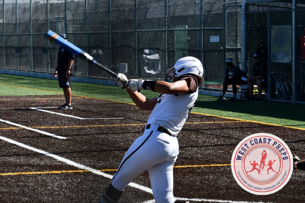 Sydney Stewart makes a home run swing in a St. Francis win over Mitty. Chris Jackson / Staff Photo