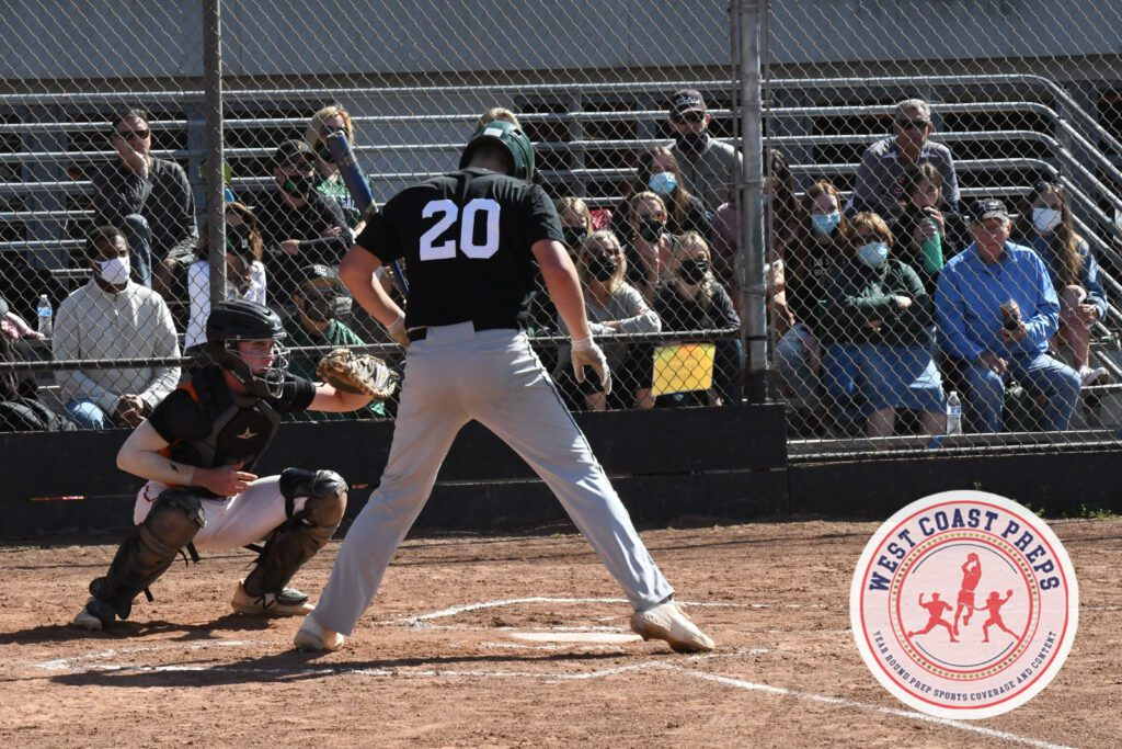 Blake Burke stands at the plate during a De La Salle win at Cal. Gregory Moreland-Tuhn / Staff Photo